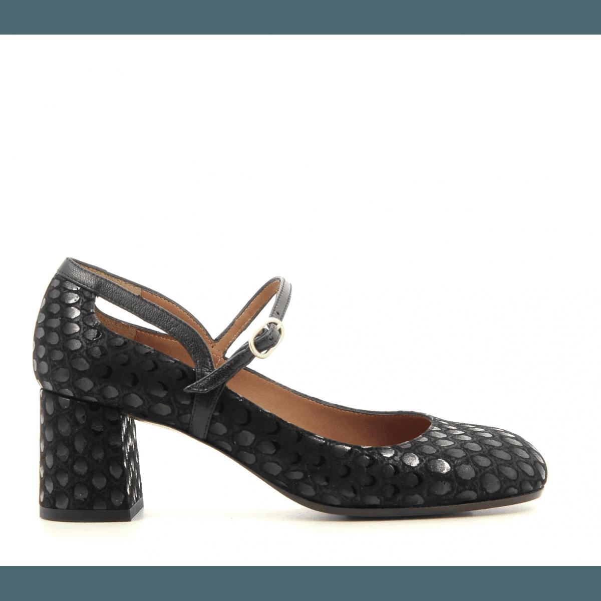 Escarpins à talons moyens en cuir noir Chie Mihara - POPY NOIR