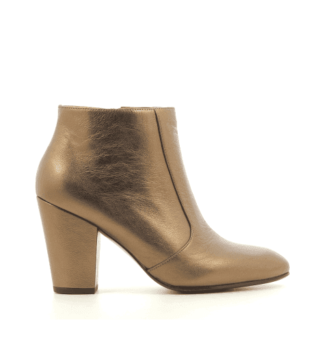 Boots à talons moyens en cuir bronze Chie Mihara - EL-HUBA