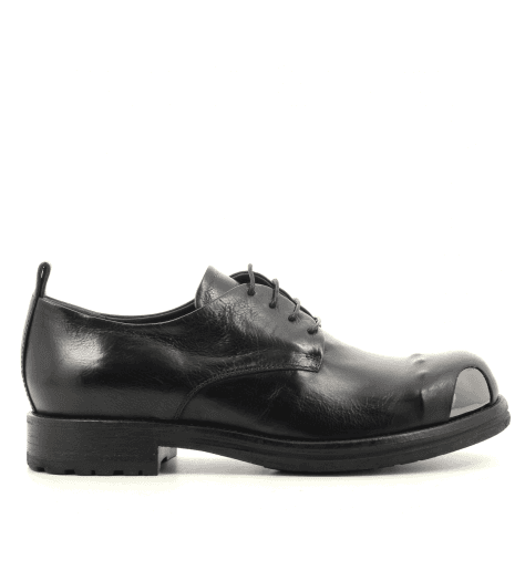 Derbies en cuir noir garrice fru.it - 5612