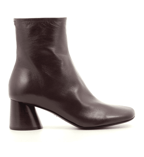 Bottines en cuir bordeaux Halmanera - ODILE02