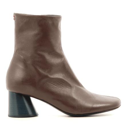 Bottines  en cuir marron Halmanera - ODILE02M