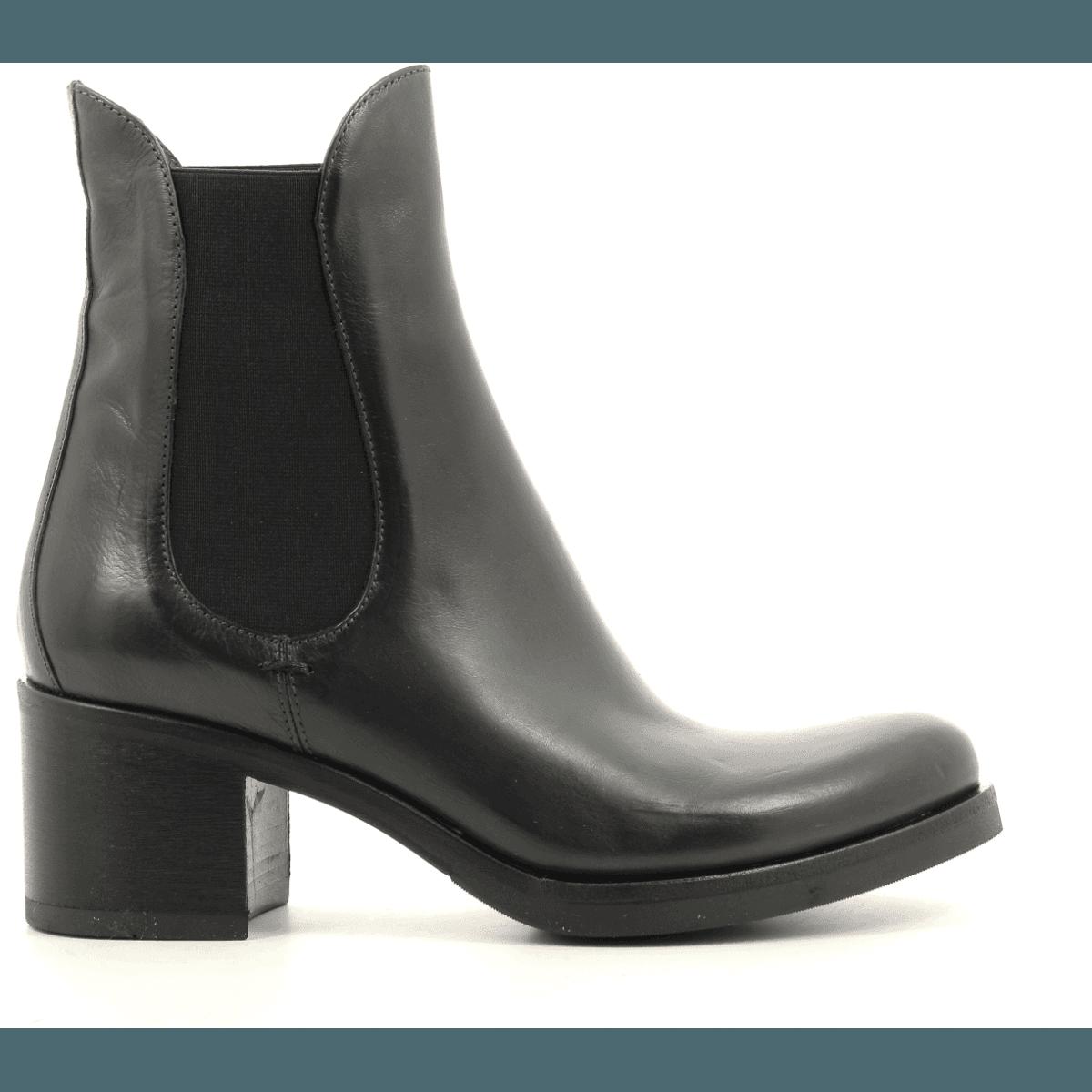 Bottines vertes à talon épais fruit shoes Garrice Collection - 5713V