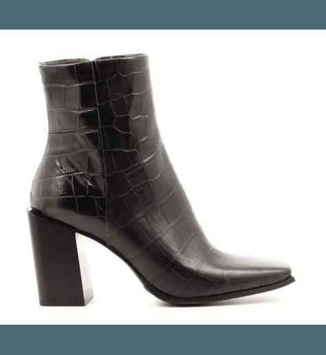 Bottines bout carré en cuir marron Sélection Garrice Fruit shoes - 5757