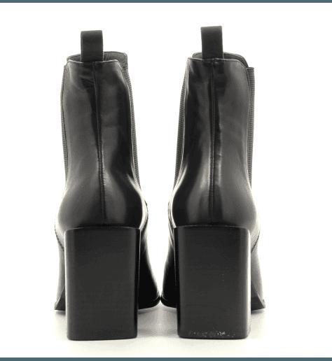 Bottines bout carré en cuir noir Sélection Garrice Fruit shoes - 5756