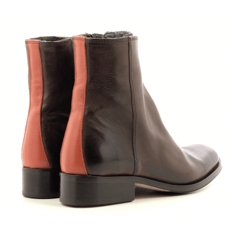Bottines plates en cuir marron Paul Smith - ADALIA BROWN