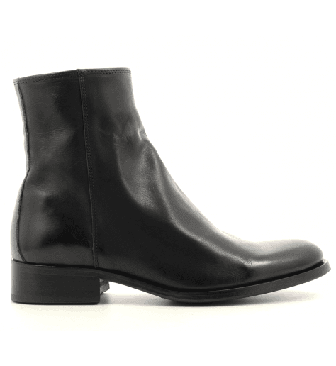 Bottines plates en cuir noir Paul Smith - ADALIA BLACK
