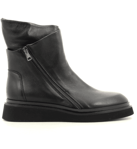 Bottines rangers en cuir noir 5618 - GARRICE COLLECTION
