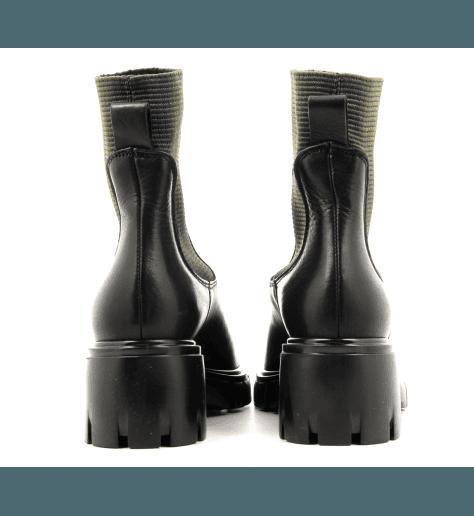 Bottines en cuir noir Sélection Garrice collection - 5680
