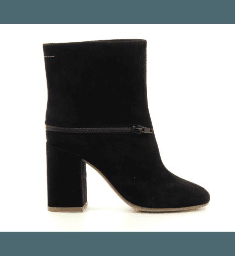 Boots en cuir noir S40WU0181N - MM6 Martin Margiela
