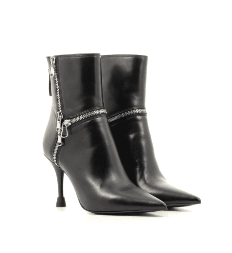 Bottines pointues en cuir noir Premiata - M5557