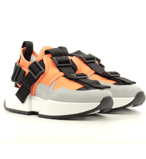 Sneakers basses en cuir orange à semelles épaisses S40WS0114ORA - MM6 Martin Margiela