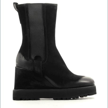 Bottines compensées en cuir noir M5442 - Premiata