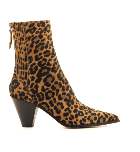 Bottines pointues en suede leopard et talon aiguille Aquazzura - SAINT HONORE BOOTIE LEO