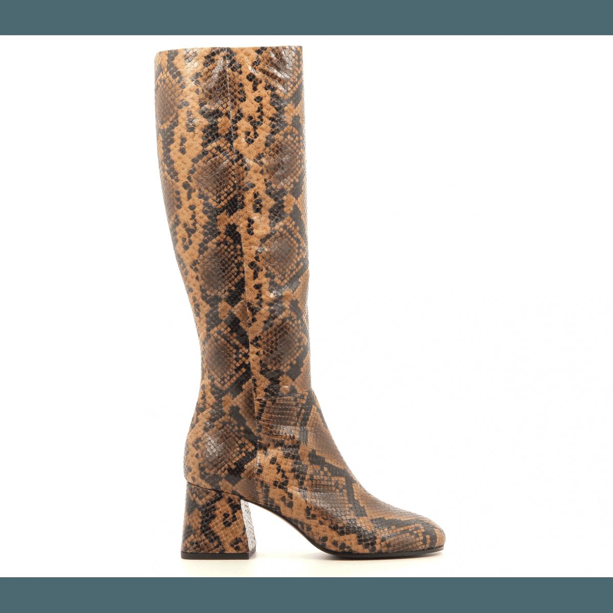 Bottes en cuir estampillé serpent Vic Matie - 7928D