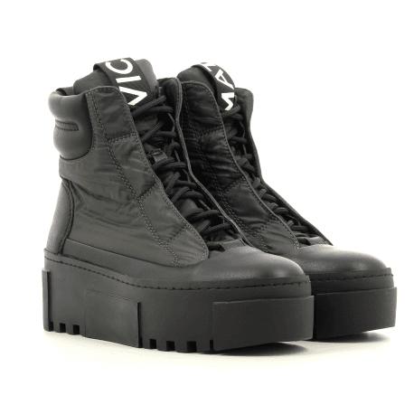 Baskets boots à semelle épaisse noir et vert Vic Matie - 7780DV