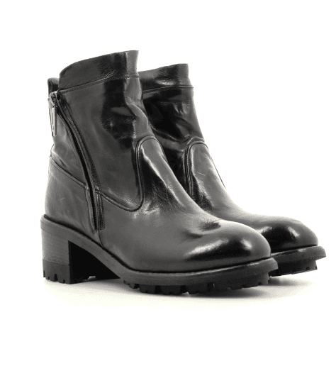 Bottines en cuir noir Lemargo - CR02A