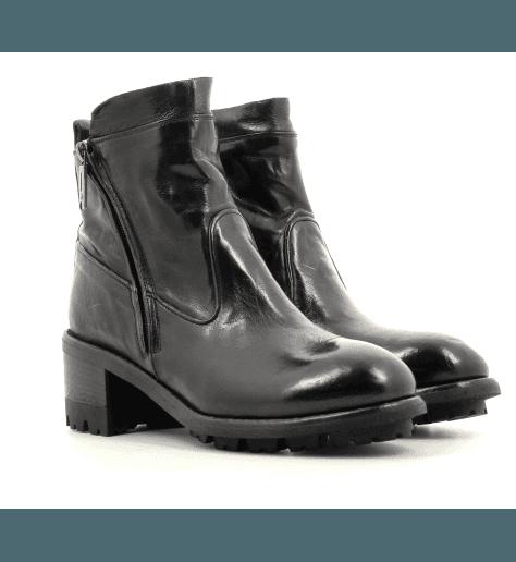 Bottines en cuir noir Lemargo - CR02A