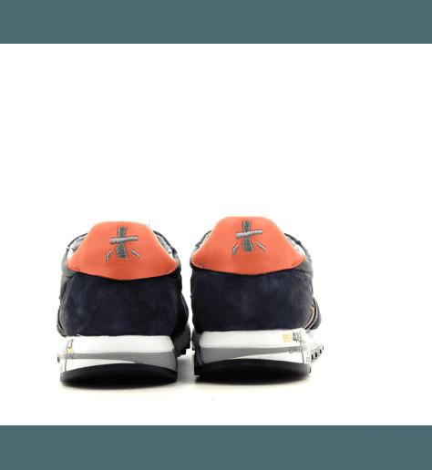 Baskets en cuir et textile marine PREMIATA pour hommes - ERIC 4137
