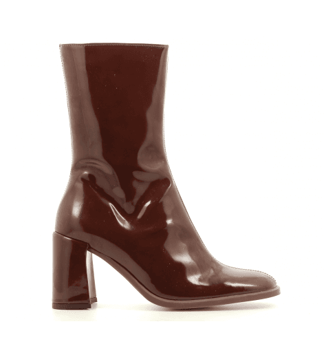 Bottines en vernis marron E8 by MIISTA - ASTA BROWN PATENT
