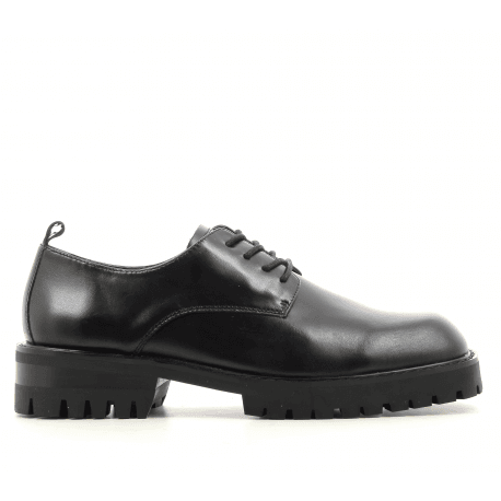Derbies à lacets en cuir noir E8 by MIISTA - ETTA BLACK