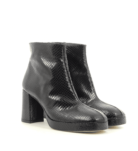 Bottines noires Miista - EDITH SNAKE