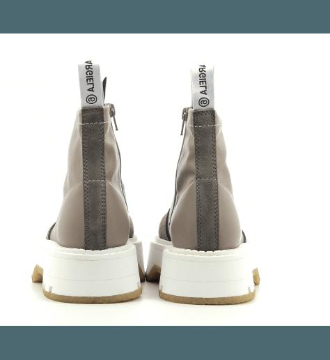 Boots bicolore en cuir texturé S40WU0187 - MM6 Martin Margiela