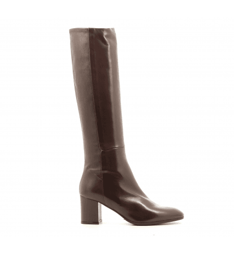 Bottes à talons en cuir marron Garrice Collection - W205919C