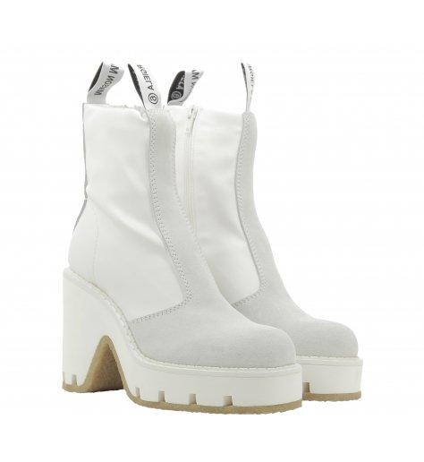 Boots bicolore en cuir texturé S40WU0188 - MM6 Martin Margiela