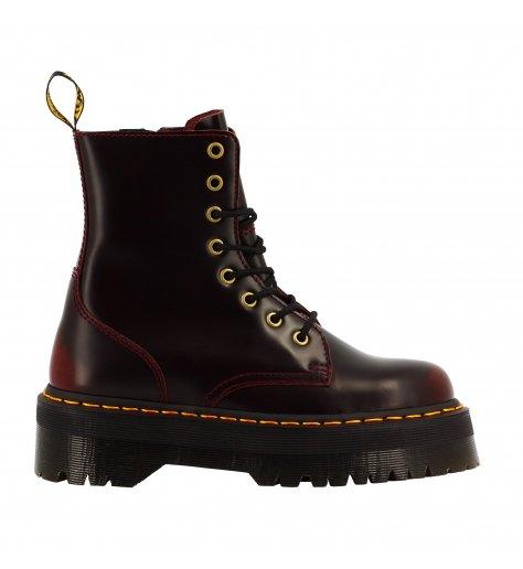 Original Dr Martens Boots à plataformes en cuir Bordeaux - JADON Cherry Red Arcadia