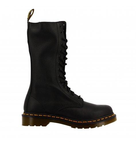 Original Dr Marteens Boots tige haute en cuir noir - 1B99 Black Virginia