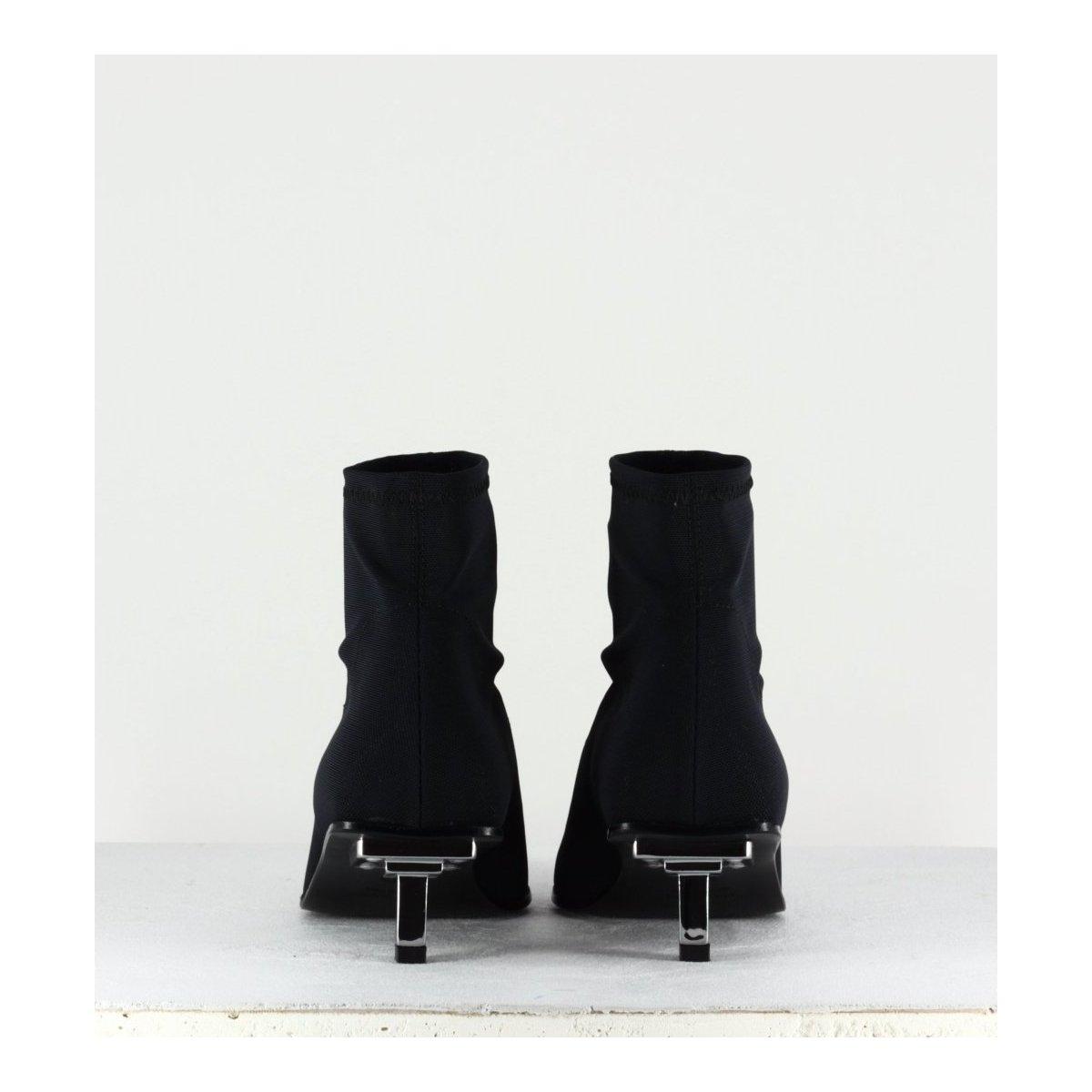 Bottines pointues en textile stretch noir Garrice Collection Fruit - 6269
