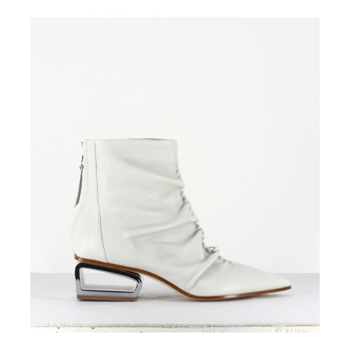 Bottines pointues blanches Garrice collection Fruit - 6267BL