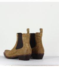 Santiag en veau velours camel La Bottega Di Lisa - 3900C