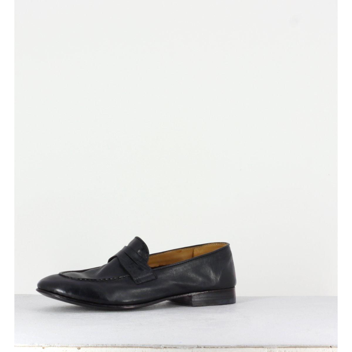 Mocassins en cuir noir VENERE48038 - Alberto Fasciani