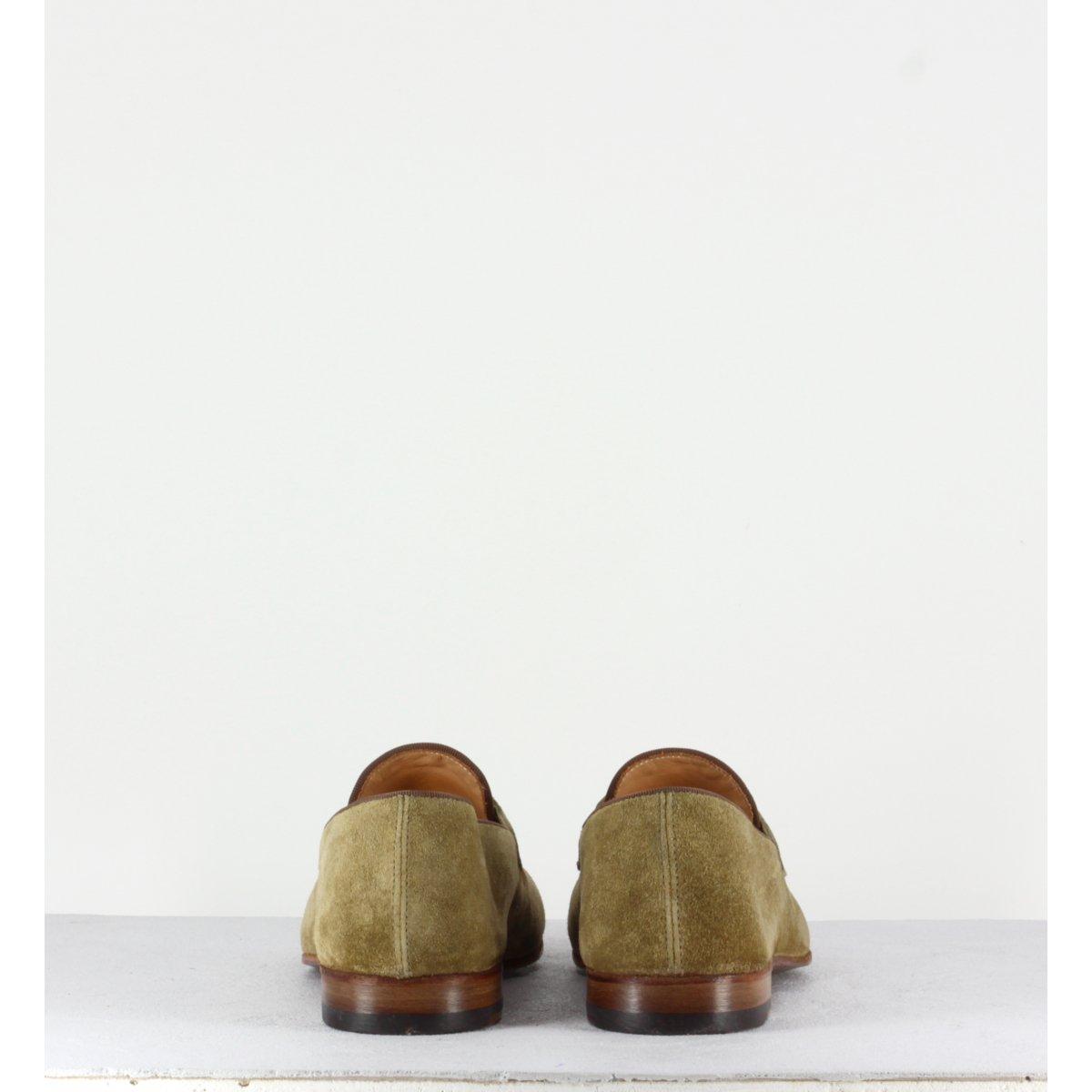 Mocassins en veau velours beige VENERE48037 - Alberto Fasciani
