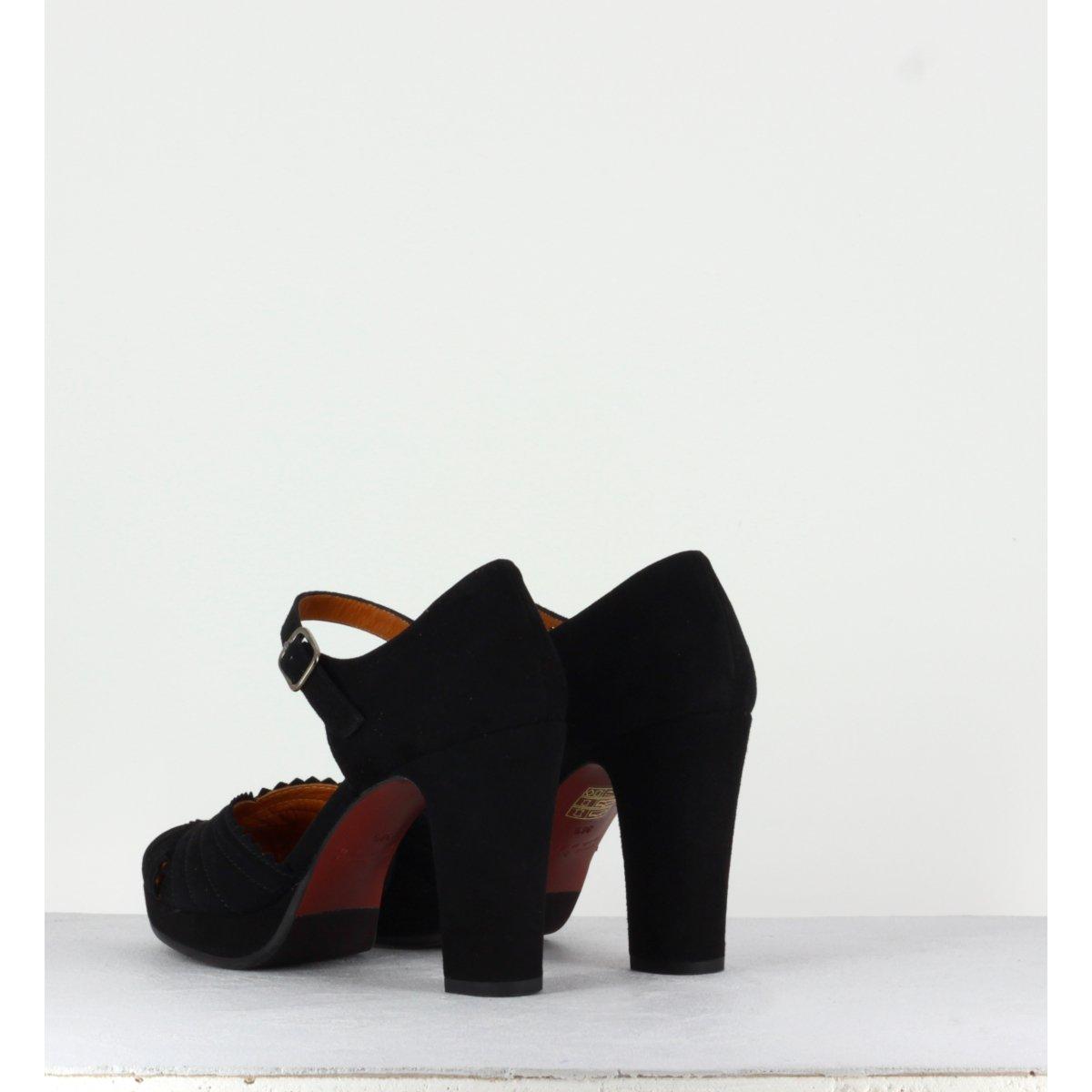 Sandales noires en suede LENTIL31N - CHIE MIHARA