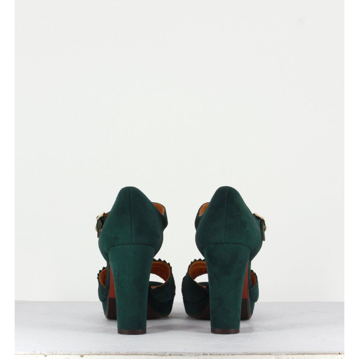 Sandales vertes en suede LENTIL31V - CHIE MIHARA