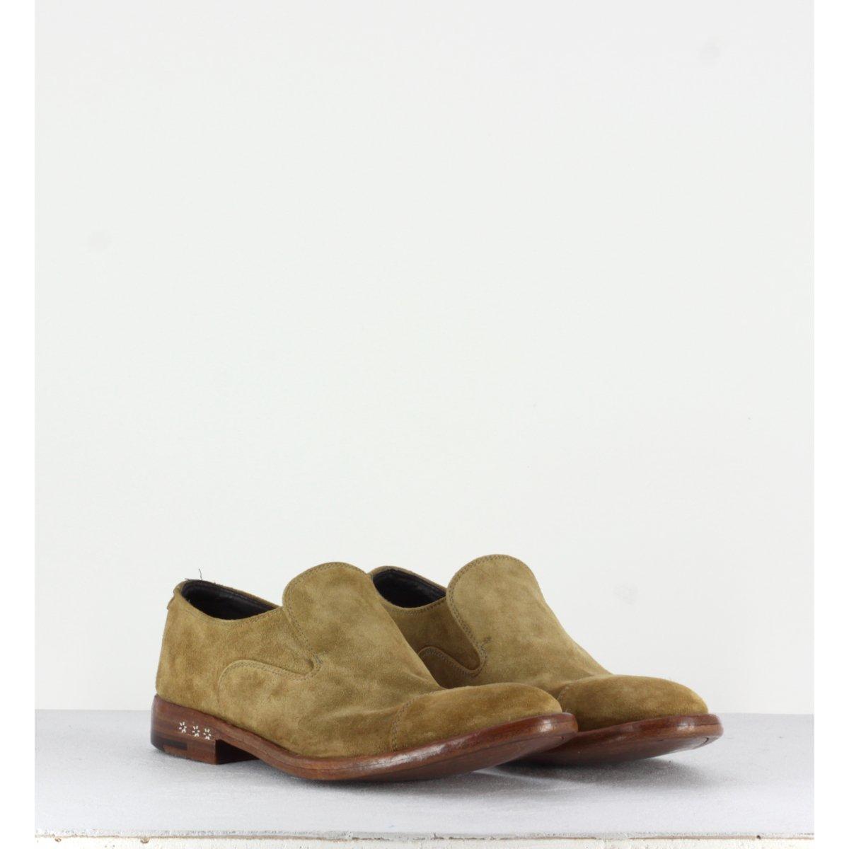 Mocassins en veau velours beige TESSA29001 - Alberto Fasciani
