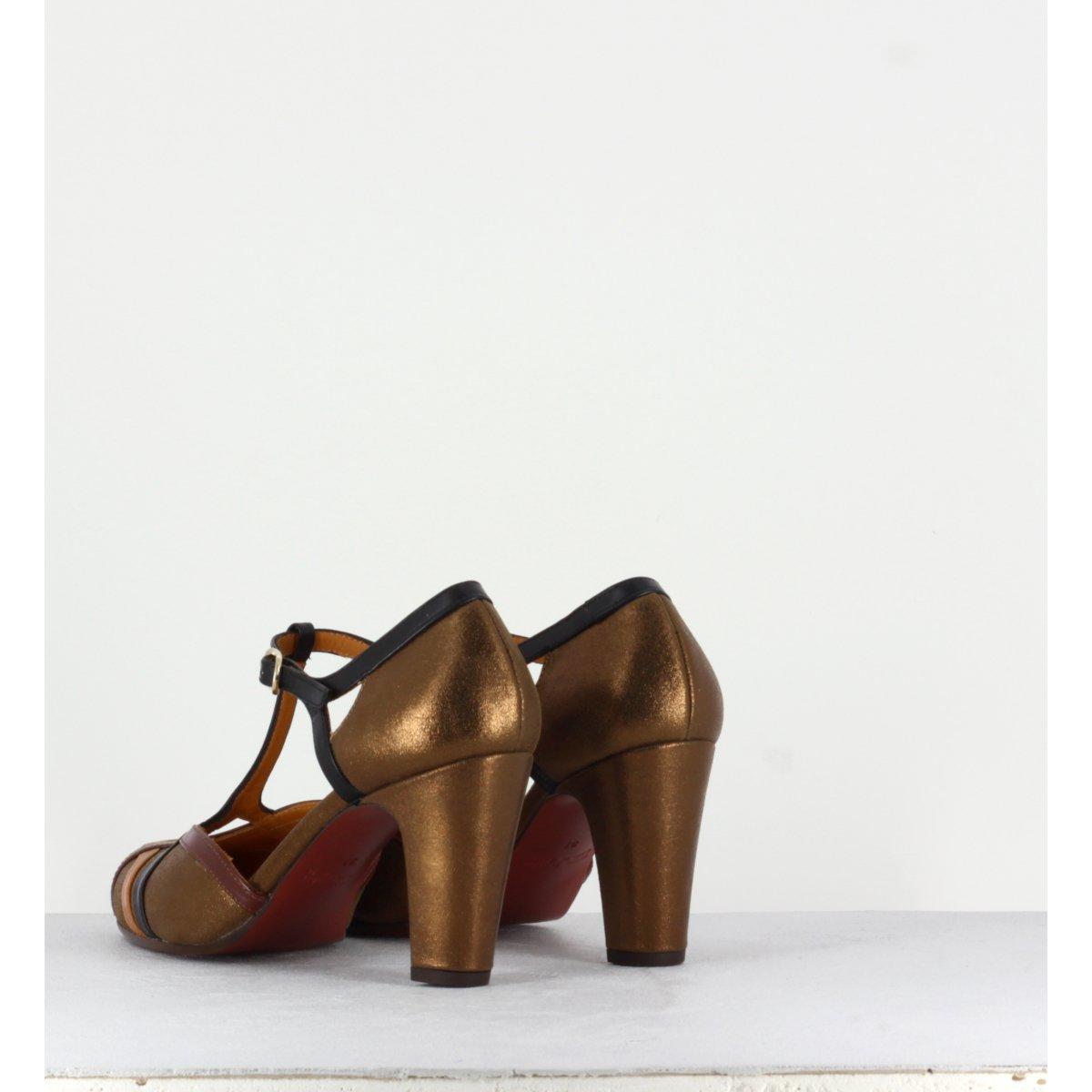 Escarpins à talons moyens en cuir bronze - Chie Mihara - KOREA BRONCE