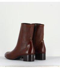 Bottines en cuir souple marron Sélection Garrice - W183B248C