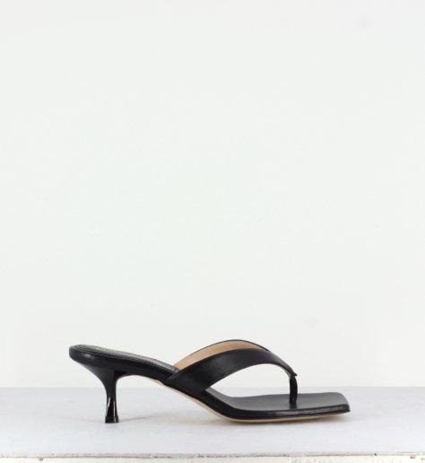 R42A Kett Barricci F1R811 Femmes Noir//Gris Bout Ouvert Talon Chaussure