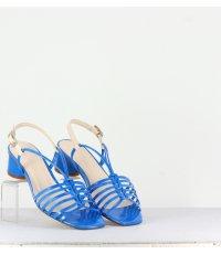 ARIANNA BLUE PATENT SANDAL
