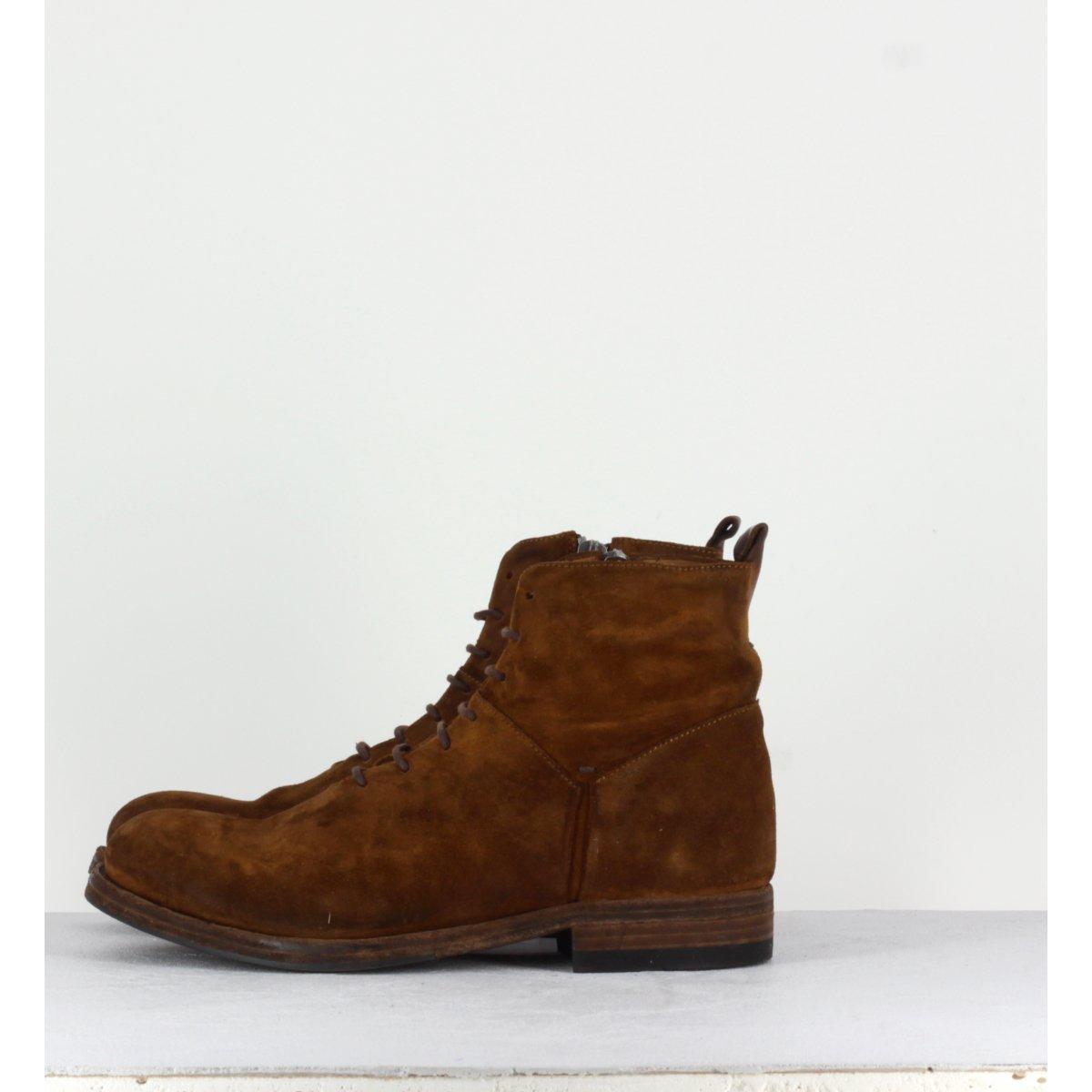Boots cuir Cognac 11665A - Pantanetti