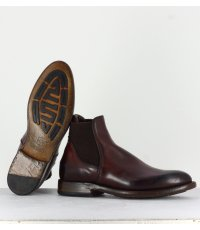 Bottines plates en cuir bordeaux  Silvano Sassetti - 4049B