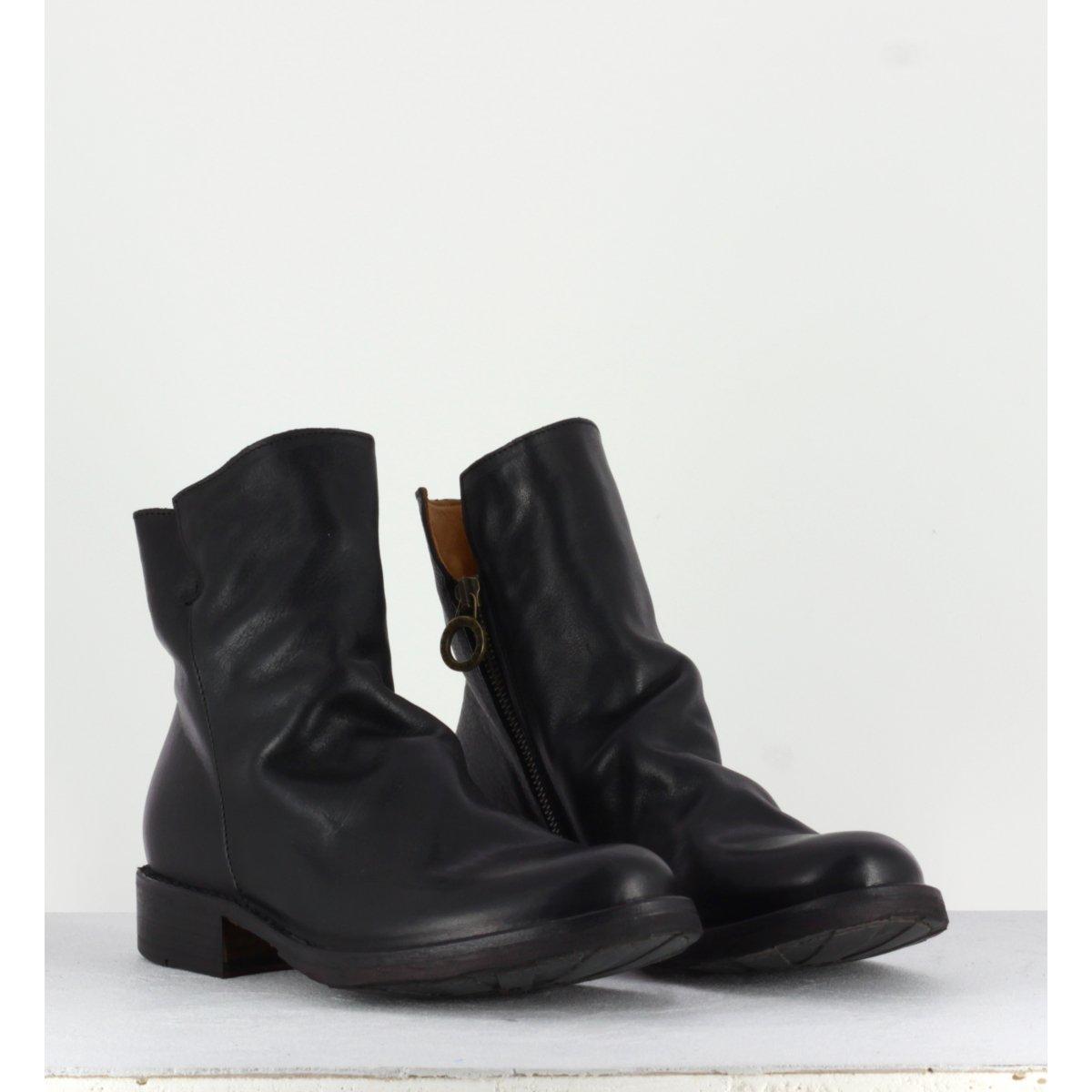 Bottines plates en cuir noir Fiorentini Baker - Eternity ELF
