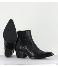 Santiag en cuir noir Alberto Fasciani femme - URSULA 46036N