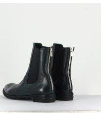 Bottines plates en cuir vert Officine Creative  pour femmes - LEXIKON/073V