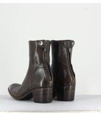 Bottines talons bottier en cuir Noir ALBERTO FASCIANI - Maya31019