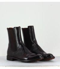 Bottines plates en cuir marron Officine Creative  pour femmes - LEXIKON/073