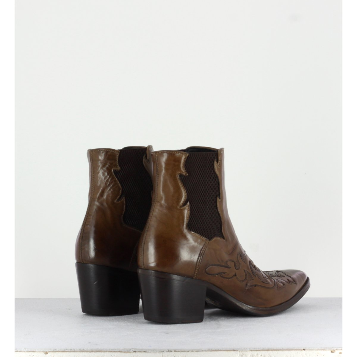 Santiag en cuir marron Alberto Fasciani femme -URSULA 46036M